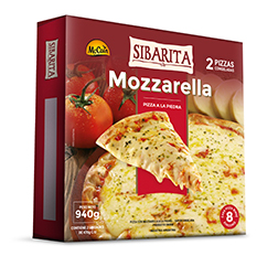Doble Pizza de Mozzarella 940g