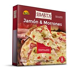Pizza de Jamón y Morrones 470g